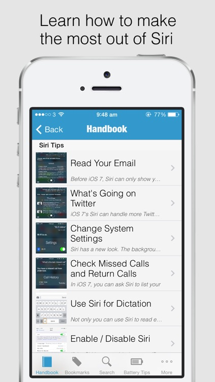 Secret Handbook for iOS 7 Lite - Tips & Tricks Guide for iPhone screenshot-3