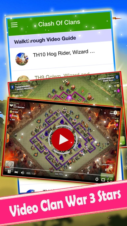 Gems Guide for Clash of Clans - Video Clans War Strategy screenshot-3