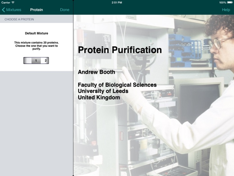 Protein Purification for iPad