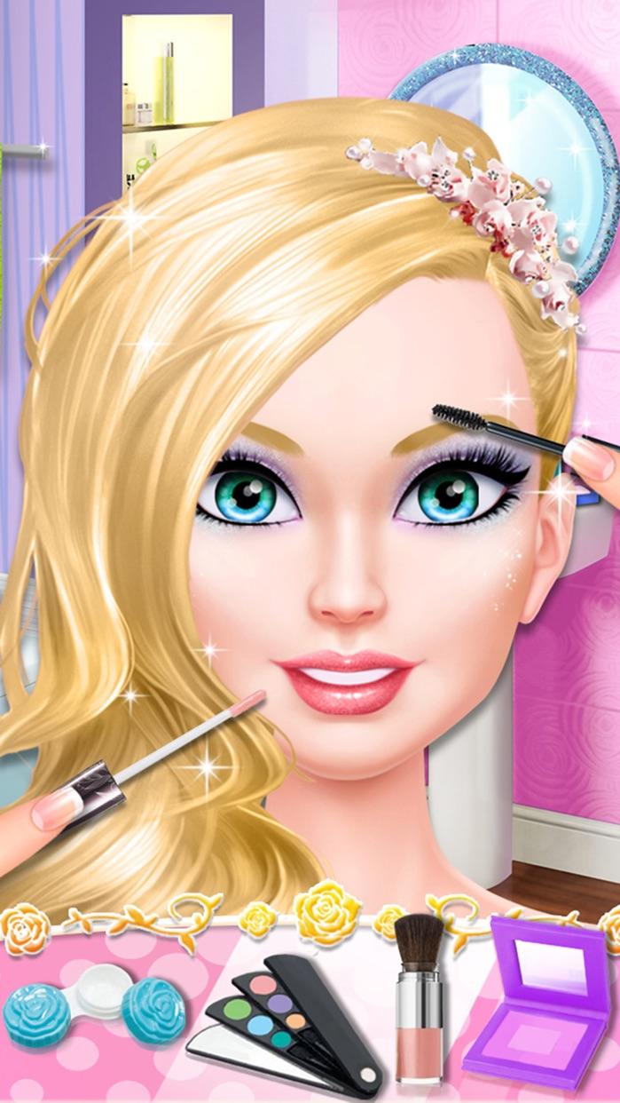 Little Miss Beauty Salon: Fashion Doll First Date - Girls Makeover Games Screenshot