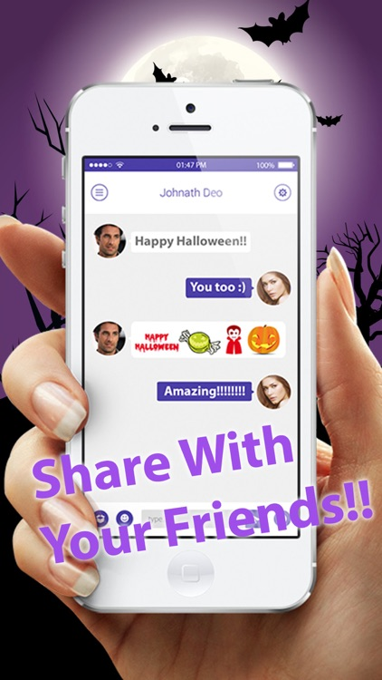 Halloween Emoji Pro - Add Scary Ghost & Zombie Emoticon Stickers to Messages for Greetings screenshot-4