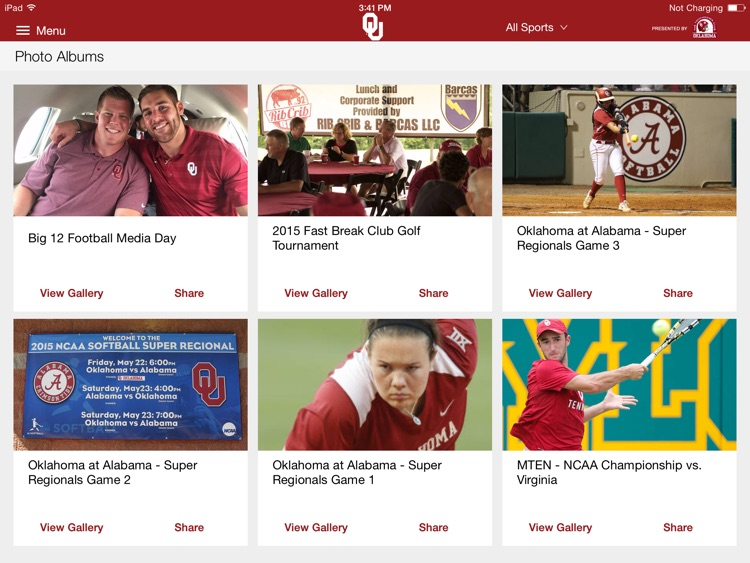 SoonerSports2Go for iPad screenshot-0