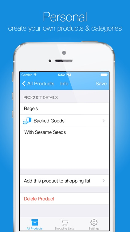 Groceries - Smart Shopping List - create, edit and share your grocery lists and recipes screenshot-4