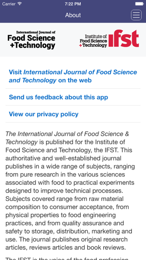 International Journal Of Food Science And Technology On The App Store
