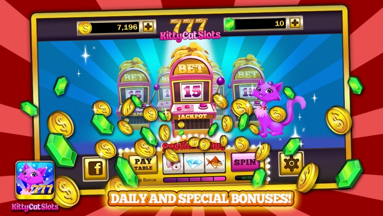 Kitty Cat Slots™ – FREE Premium Casino Slot Machine Game screenshot-4