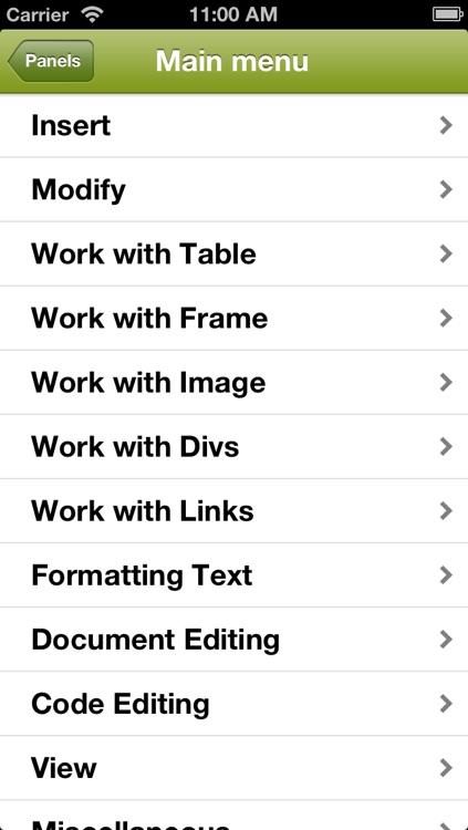Shortcuts for DreamWeaver screenshot-3
