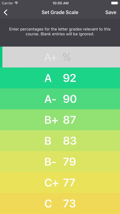 Gradient Grades – Grade Calculator screenshot-4