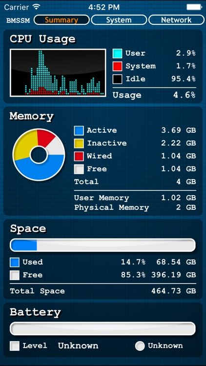 Battery Memory System Status Monitor(Premium) screenshot-0