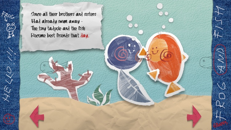 The Frog and Fish storybook - the interactive nursery rhyme for children screenshot-4