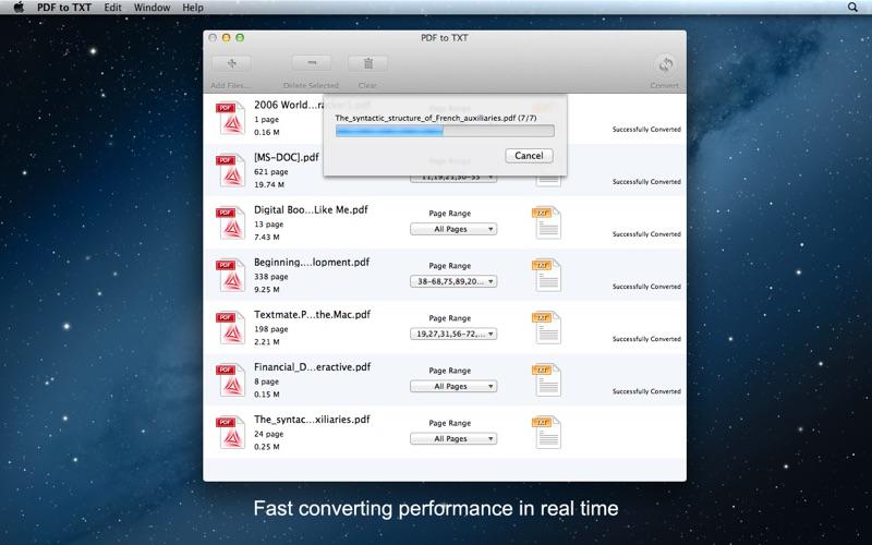 PDF to TXT Screenshot