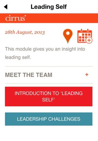 Screenshot of Cirrus Leadership