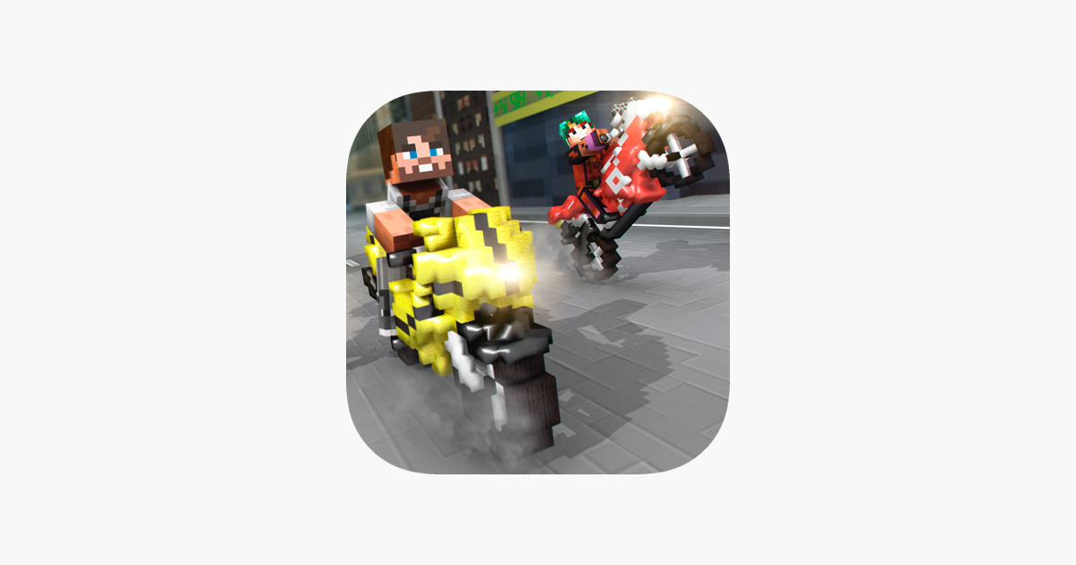 Motorbike Shoot Crafting Mini Pixel Racing Edition For Kids