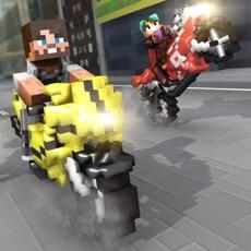 Activities of Motorbike Shoot Crafting. Mini Pixel Racing Edition For Kids Free