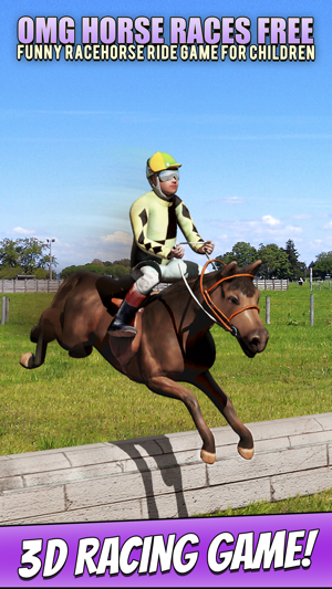 Omg Horse Races Free Funny Racehorse Ride Game For Children V App Store