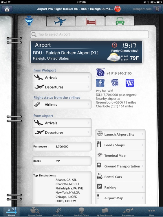 Raleigh Airport Pro (RDU) + Flight Tracker HD