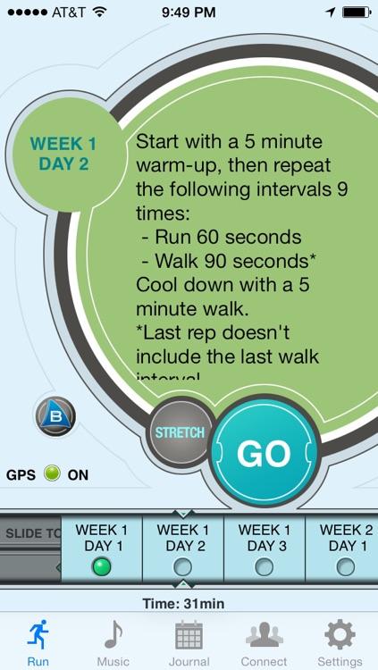Ease into 5K - Free, run walk interval training program, GPS tracker