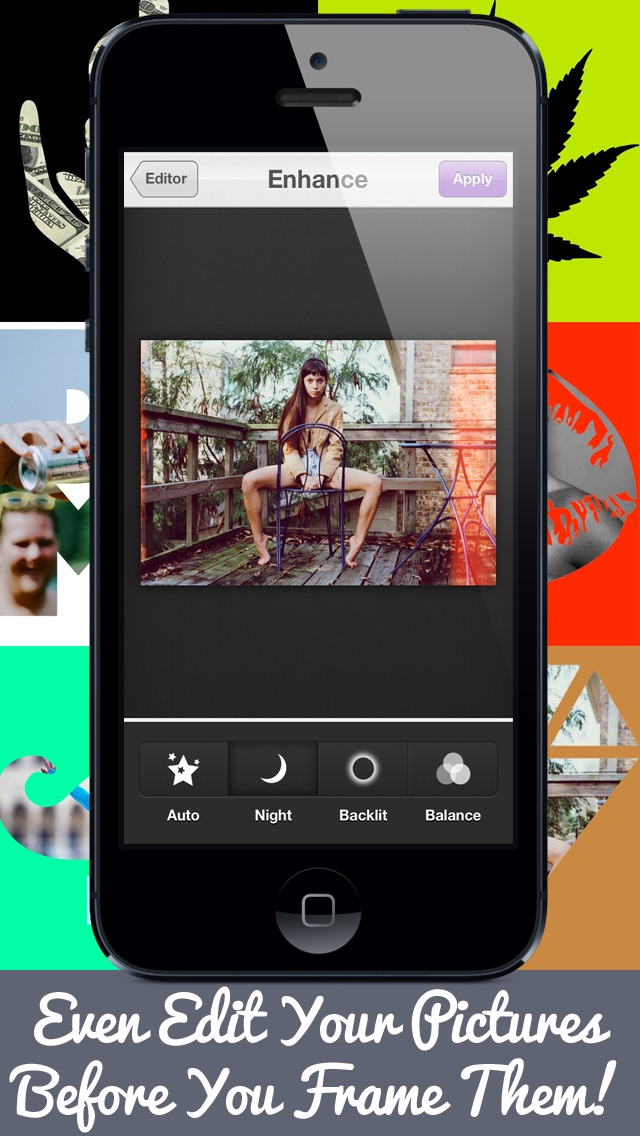 Adult Frames & Picture Editor HD Free - Edit Your Photo.s & Add Fun, Sexy, Colorful & White Frames! (17+)Screenshot of 4