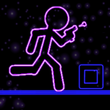 Glow Stick-Man Run : Neon Laser Gun-Man Runner Race Game For Free