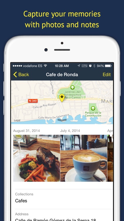 Rego Pro: Bookmarks for places