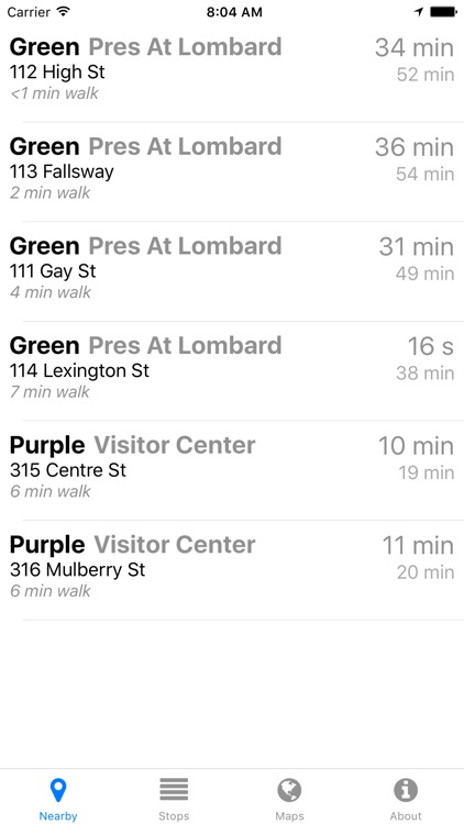 Charm City Circulator Now - Real-time Transit Arrivals screenshot-2