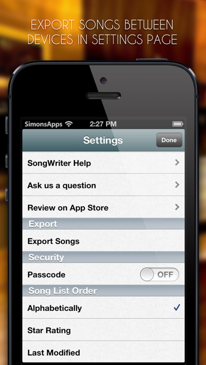 SongWriter Lite - Write lyrics and record melody ideas on the go screenshot-4