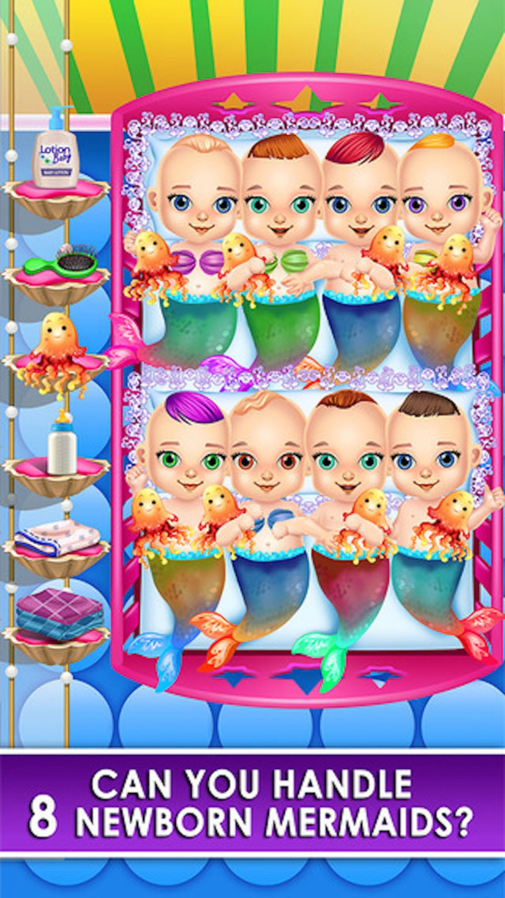 Mermaid Newborn Babies Care – Mommy's Octuplets Baby Salon Doctor Game Cheat Codes