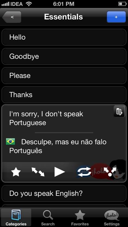 Lingopal Portuguese (Brazilian) LITE - talking phrasebook
