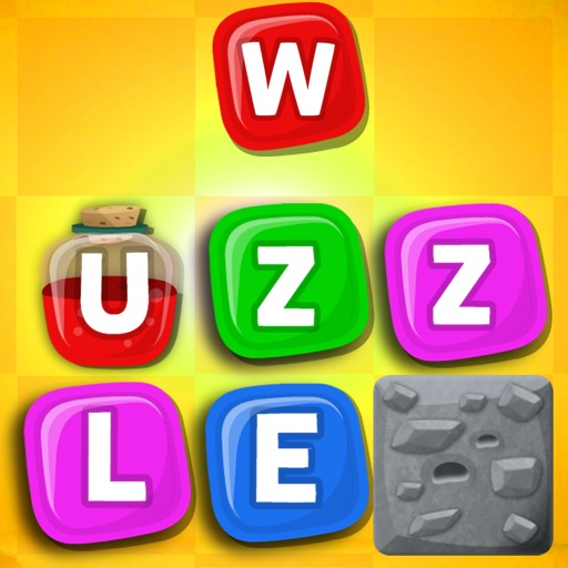 Wuzzle: Words with color match game to play with letters in a new original way incuding awsome wordsearch, anagrams and good educational board mini games to learn spelling and vocabulary. Free!