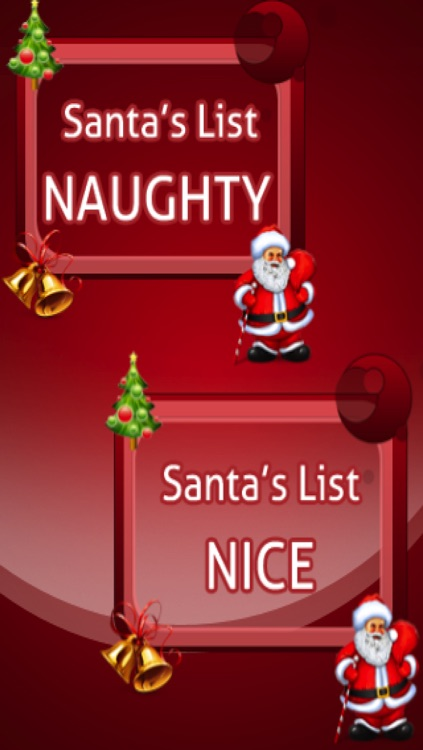 Santa Christmas Naughty or Nice List. Free
