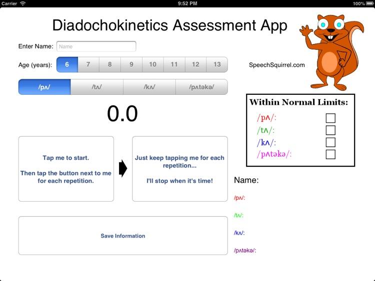 Diadochokinetics Assessment App
