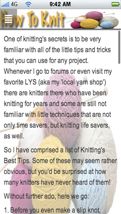 How To Knit: Learn How To Knit and Discover New Knitting Patterns! screenshot-4