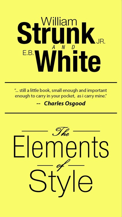 The Elements of Style, Fourth Edition By William Strunk, Jr. screenshot-0