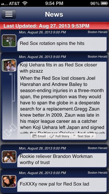 Boston Baseball Live screenshot-3