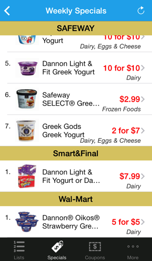 grocery pal in store weekly savings sales coupons shopping list