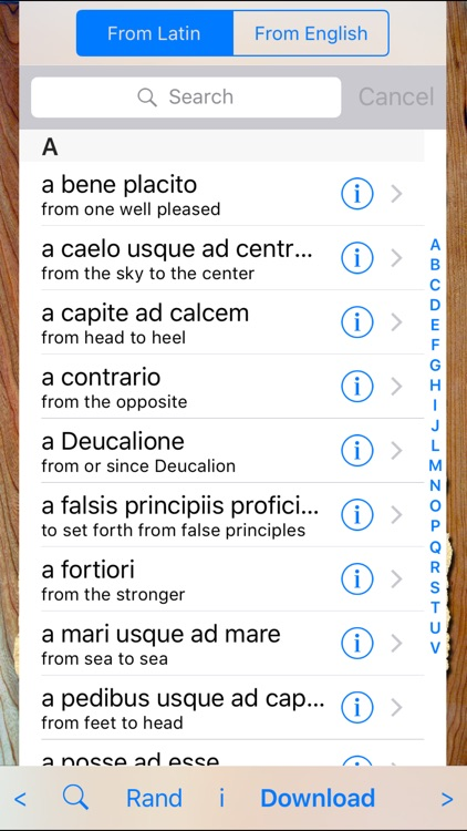 Latin Phrases Pro screenshot-1
