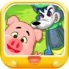 三只小猪 打败大灰狼 早教 儿童游戏