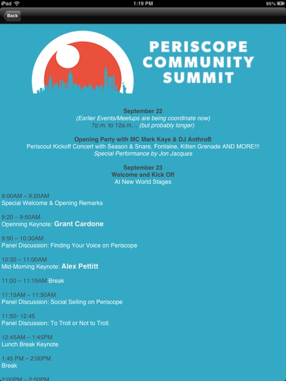 Periscope Community Summit HD screenshot-3