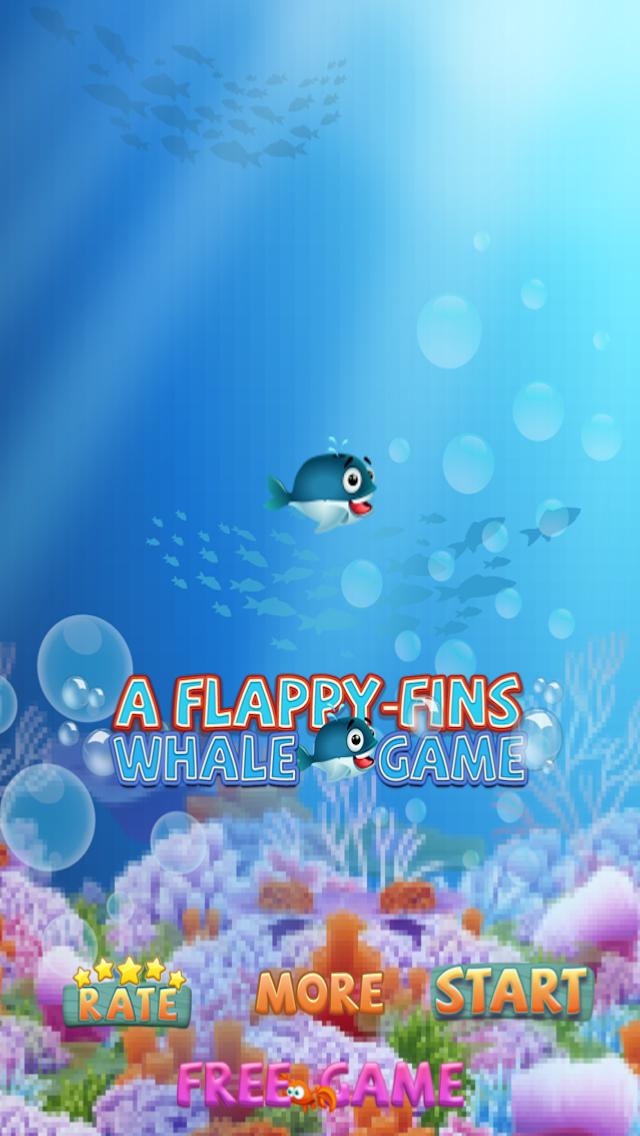 ゆるい - フィンクジラゲーム A Flappy-Fins Whale Gameのおすすめ画像1