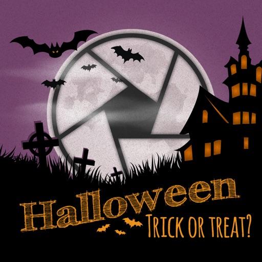 Trick or Treat Cam - Happy Halloween Background, Frame & Sticker