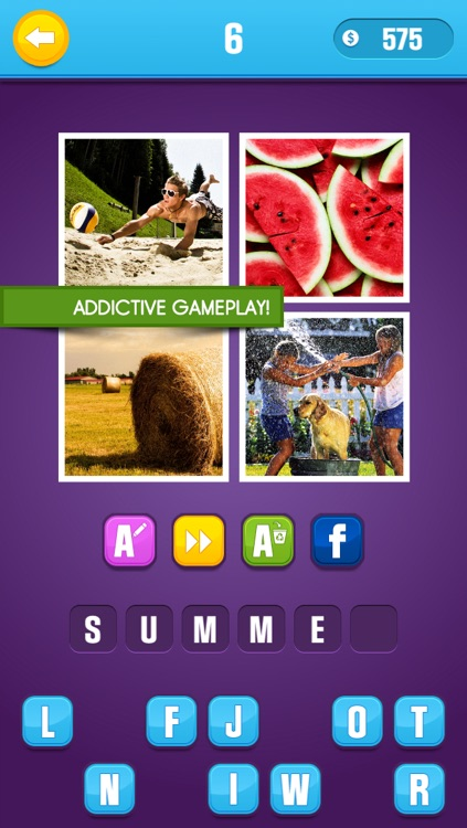 Guess What? Picture trivia. Fun pop quiz game to play with friends and figure out 1 word from 4 pics & puzzles.