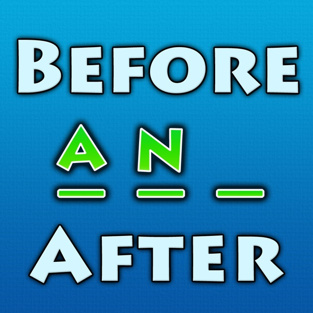before and after the word in the middle puzzle game on