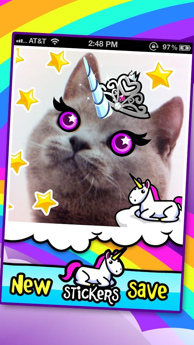 I'ma Unicorn - Amazing Glitter Rainbow Sticker Camera! Screenshot