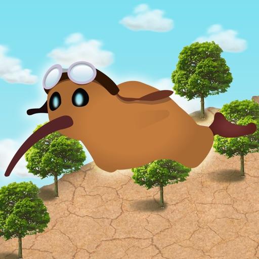 Kiwi - Flappy falling bird
