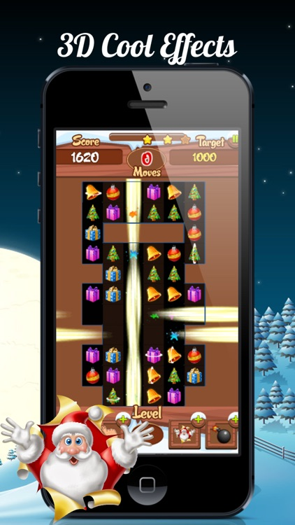 Christmas Match-3 Puzzle Game. A relaxing holiday sweeper for whole family.