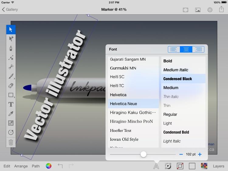 iDraw Pro: Vector illustrator for iPad screenshot-4