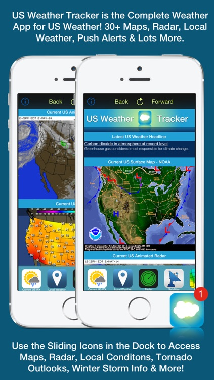 US Weather Tracker - Weather Maps, Radar, Severe & Tornado Outlook & NOAA Forecast