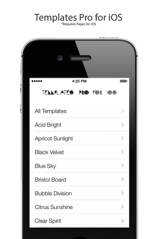 Templates Pro for iOS screenshot 1
