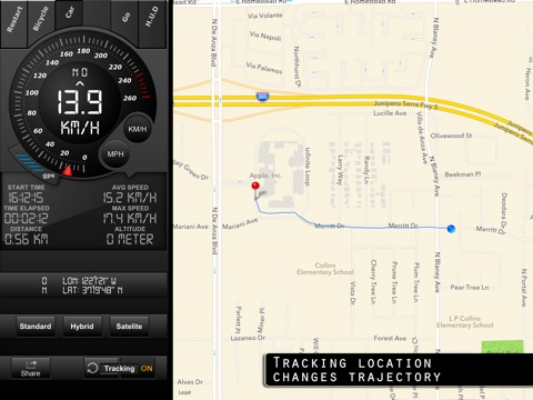 Speedometer GPS Tracker+ HUD and Track information Screenshot