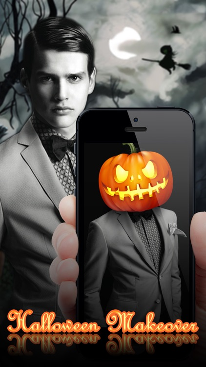 Halloween Makeover - Photo Editor Booth to Add Pumpkin, Scary & Ghost Stickers on Yr Face