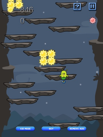 Screenshot #4 for Doodle Alien vs Zombies Jump Game - Heads Up While Also Killing The Pacific Rim Plants!